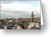 Old Street Greeting Cards - Paris rooftops Greeting Card by Elena Elisseeva