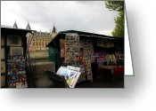 Street Vendor Greeting Cards - Paris Street Vendor 2 Greeting Card by Andrew Fare