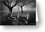 Park Benches Greeting Cards - Park Benches Greeting Card by Gary Heller