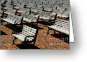 Park Benches Greeting Cards - Park Benches Greeting Card by Perry Webster