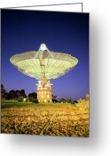 Telescope Greeting Cards - Parkes Radio Telescope Greeting Card by Yury Prokopenko