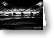 Fence Greeting Cards - Parking Garage Greeting Card by Bob Orsillo