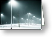 Parking Lot Greeting Cards - Parking Lot Greeting Card by Photography by Andreas Strauch