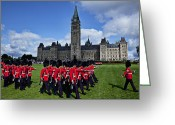 Soldiers Greeting Cards - Parliament building Ottawa Canada  Greeting Card by Garry Gay