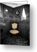 Parlor Greeting Cards - Parlor Chair Greeting Card by Cheryl Young