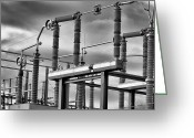 Industry Greeting Cards - Part Of The Grid Greeting Card by Bob Orsillo
