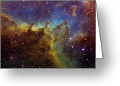 Starfield Greeting Cards - Part Of The Ic1805 Heart Nebula Greeting Card by Filipe Alves