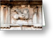 Parthenon Greeting Cards - Parthenon bas relief Greeting Card by David Bearden