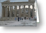 Parthenon Greeting Cards - Parthenon watercolored Greeting Card by David Bearden