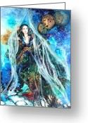 Dimension Greeting Cards - Parting The Veil Greeting Card by Patricia Allingham Carlson