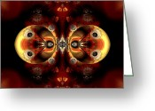 Generative Digital Art Greeting Cards - Partners Greeting Card by Claude McCoy