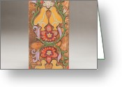 Design Reliefs Greeting Cards - Partridge in a Pear Tree Greeting Card by James Neill