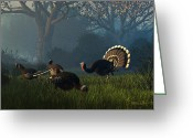 Thanksgiving Greeting Cards - Party of Four Greeting Card by Dieter Carlton