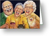 Laughing Greeting Cards - Party Pooper Greeting Card by Shelly Wilkerson