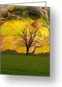 Rural Landscapes Greeting Cards - Party Skies Greeting Card by Jan Amiss Photography