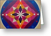 Mandalas Pastels Greeting Cards - Pasion celestial Greeting Card by Lorena Leonardis