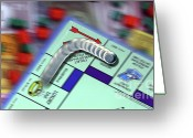 Monopoly Greeting Cards - Pass Go Greeting Card by Allen Simmons