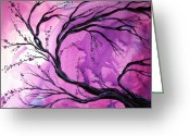 Soft Painting Greeting Cards - Passage Through Time by MADART Greeting Card by Megan Duncanson