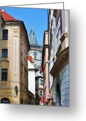Passageways Greeting Cards - Passage to Old Town Square Greeting Card by Andrew Funk