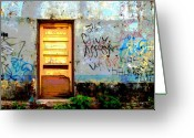 Street Scene Greeting Cards - Passersby by Darian Day Greeting Card by Olden Mexico
