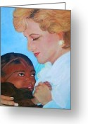 British Royalty Painting Greeting Cards - Passion - Princess Diana Greeting Card by Jeanne Silver