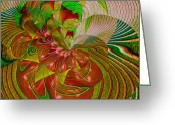 Abandon Digital Art Greeting Cards - Passion Flower Greeting Card by Anne Lacy