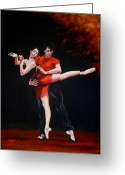 Marenart Greeting Cards - Passion in red Greeting Card by Maren Jeskanen