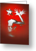 Red Woman Greeting Cards - Passion in Red Greeting Card by Irina  March