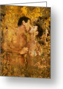Hug Greeting Cards - Passion Greeting Card by Kurt Van Wagner