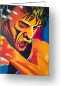 Rolling Stones Painting Greeting Cards - Passion Play Greeting Card by Santiago Rodriguez