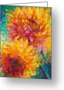 Orange Greeting Cards - Passion Greeting Card by Talya Johnson