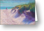 Grass Pastels Greeting Cards - Past the Dunes Greeting Card by Michael Camp