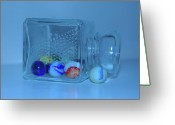Clear Glass Greeting Cards - Past Time Calling  Greeting Card by Valerie Rakes