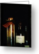Hyperrealism Greeting Cards - Pasta and Wine Greeting Card by Thomas Luca