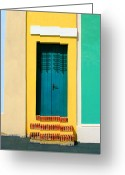 Screen Doors Greeting Cards - Pastel Doorway Greeting Card by Perry Webster