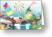 Twirl Greeting Cards - Pastel Hurricane Greeting Card by Barbara  White