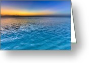 Beach Scenery Greeting Cards - Pastel Ocean Greeting Card by Chad Dutson