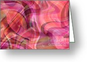 Pink And Purple Greeting Cards - Pastel Power- Abstract Art Greeting Card by Carol Groenen
