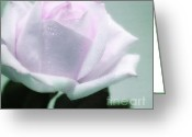 Bleu Greeting Cards - Pastel Rose Greeting Card by Kristin Kreet