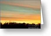 Light Aqua Greeting Cards - Pastel Sky Greeting Card by Marsha Heiken