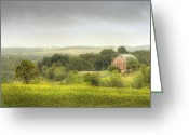Crops Greeting Cards - Pastoral Barn Greeting Card by Scott Norris