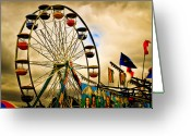 Wheel Greeting Cards - Patch of Blue Greeting Card by Bob Orsillo