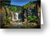 Great Falls Greeting Cards - Patersons Great Falls I Greeting Card by David Hahn
