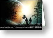 Digital Art Mixed Media Greeting Cards - Path of Imagination Greeting Card by Eugene James