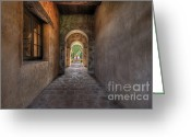 Paveway Greeting Cards - Path of Reflection Greeting Card by Susan Brown Matsumoto