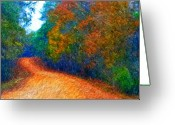 Karen Conine Greeting Cards - Path to Serenity Greeting Card by Karen Conine