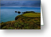 Northern Ireland Greeting Cards - Path to the Bridge Greeting Card by Justin Albrecht