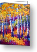 Aspen Trees Greeting Cards - Path to the Lake Greeting Card by Marion Rose