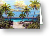 Location Art Greeting Cards - Pathway to The Gulf Greeting Card by Riley Geddings