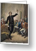 Jules Photo Greeting Cards - Patrick Henry (1736-1799) Greeting Card by Granger
